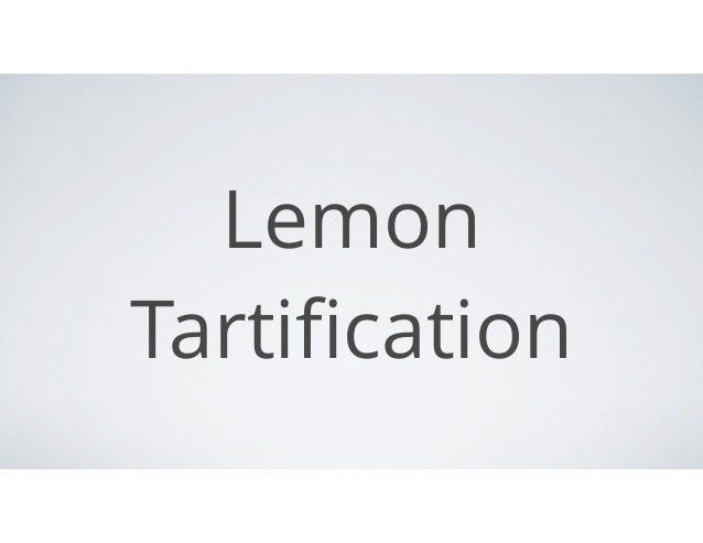 Lemon Tartification