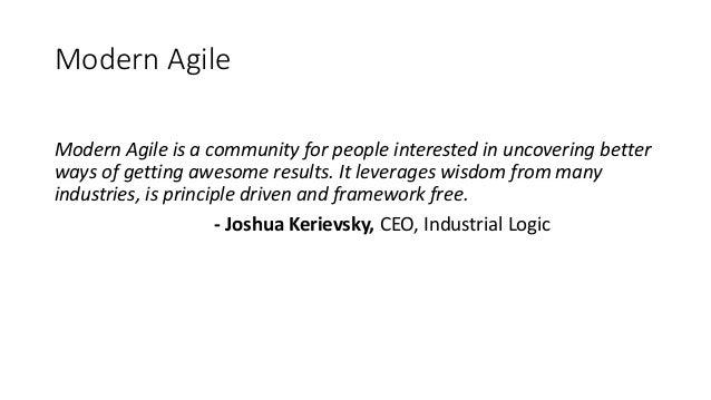 Modern agile presentation Slide 3