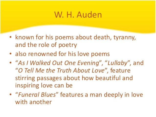 auden poems love