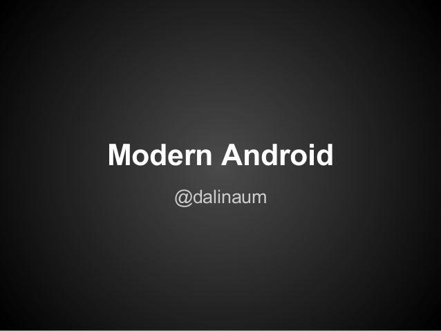 Modern Android @dalinaum