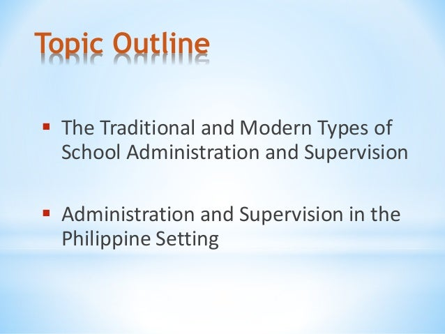 Types of School Administration
