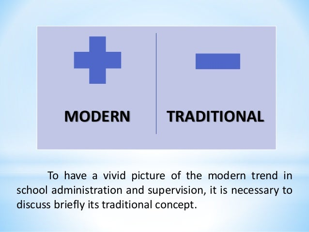 differences between modern and traditional societies Compare and contrast traditional and modern families  in the western societies,  another similarity between traditional and modern families is that both are a.