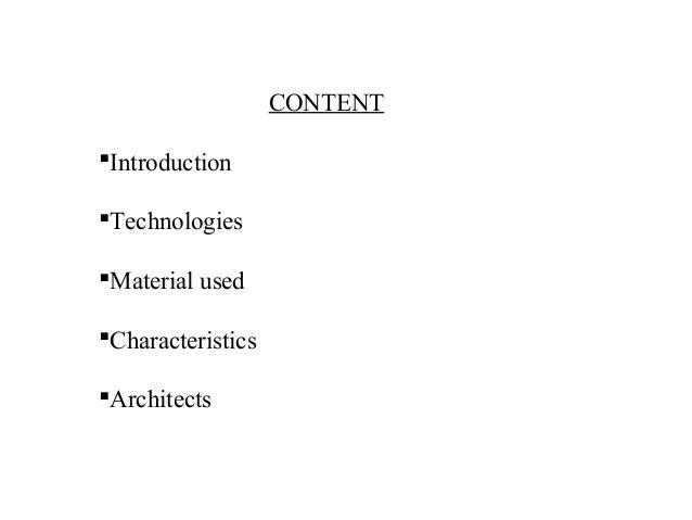 Modern Architecture Characteristics modern architecture history