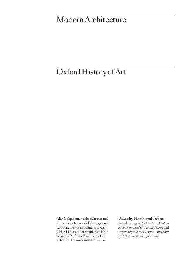 Modern Architecture - Alan Colquhoun - PDF Free Download
