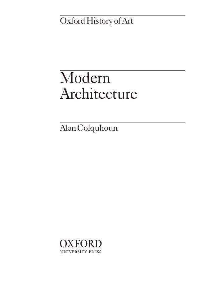 Modern Architecture Alan Colquhoun modren modern architecture alan colquhoun case studies in