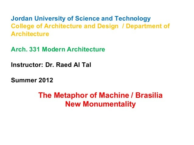 Jordan University of Science and Technology  College of Architecture and Design / Department of  Architecture  Arch. 331 M...
