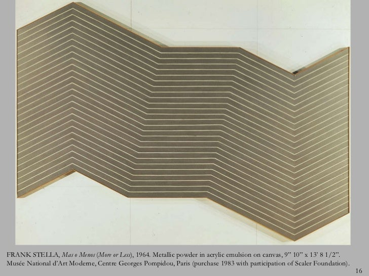 Modern art after 1940 for Frank stella mas o menos