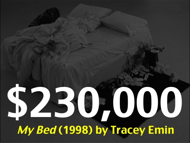 $230,000My Bed (1998) by Tracey Emin $MillionsBlack Square (1915) by K. Malevich