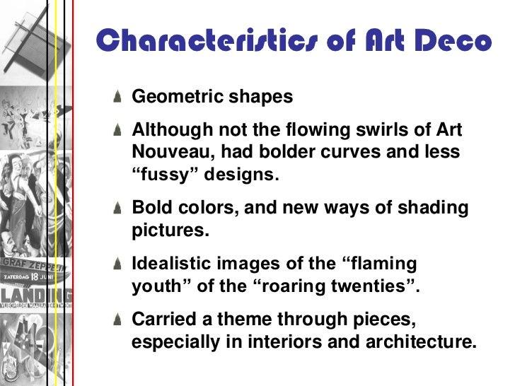 Characteristics Of Art Deco ...