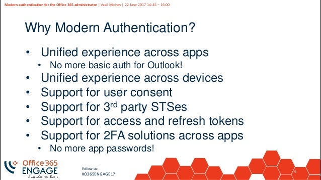 O365Engage17 - Modern authentication for the office 365 administrator