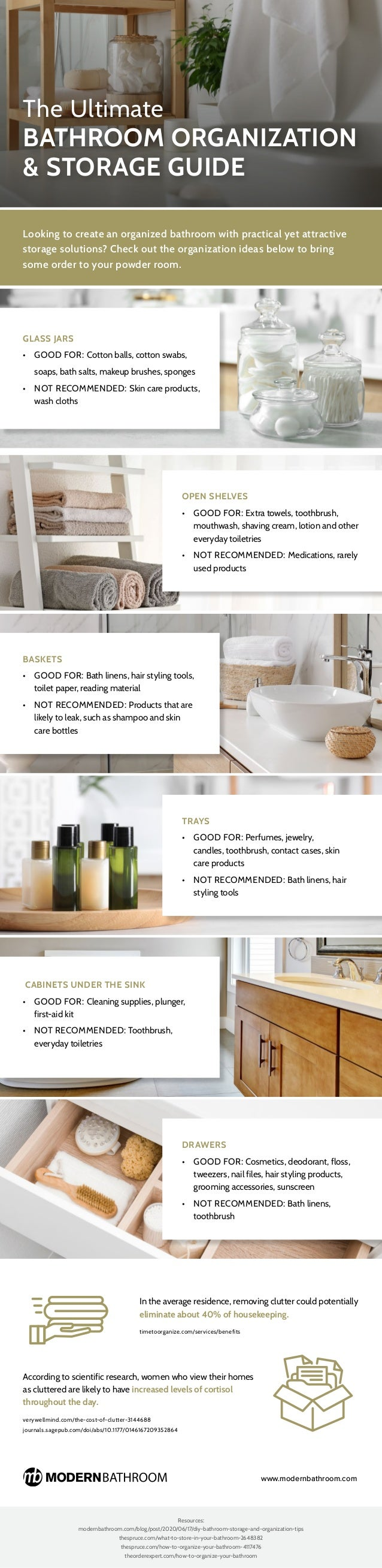 The Ultimate Bathroom Organization & Storage Guide