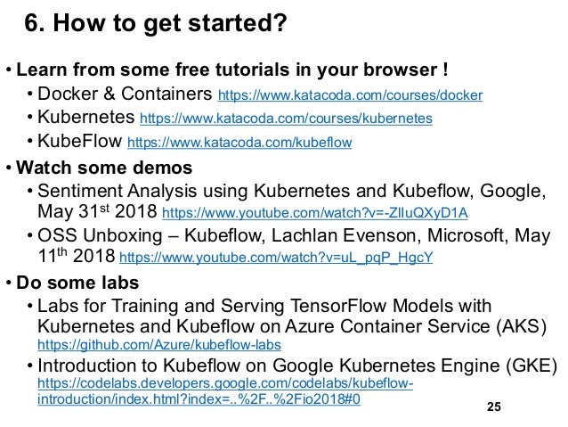 6. How to get started? • Learn from some free tutorials in your browser ! • Docker & Containers https://www.katacoda.com/c...