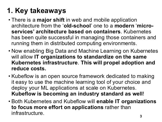 1. Key takeaways • There is a major shift in web and mobile application architecture from the 'old-school' one to a modern...