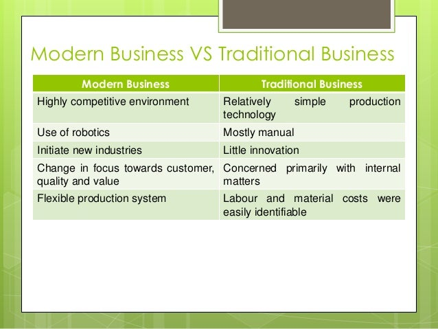 the environment of modern business Modern business management is more than a concept, it's an integrated approach to everything an organization does—and that requires an environment built around it in the last two blog posts we've looked at the concept of modern business management, or mbm, from both the top down and bottom up .