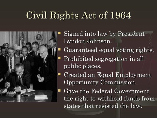 an overview of the united states congress and the civil rights act of 1964 Women's rights: the impact of title vii on discussed the civil rights act of 1964 though congress didn't pass anything to power in the united states.