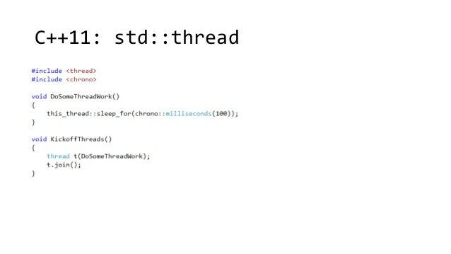 C++11: std::thread