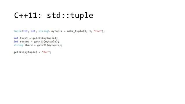 C++11: std::tuple
