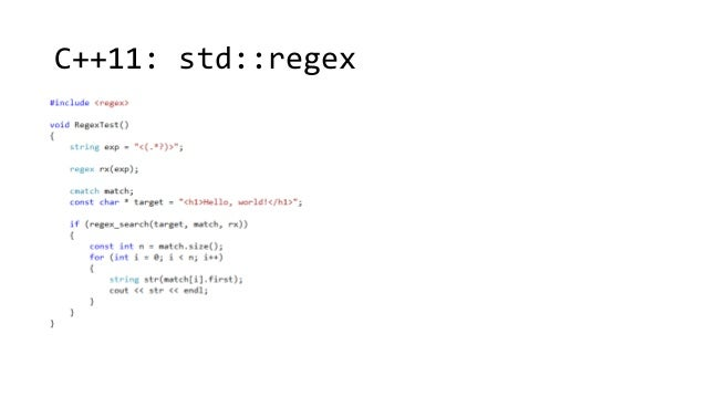 C++11: std::regex