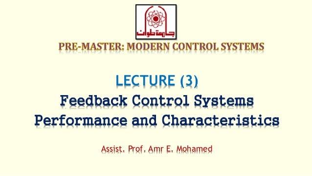 Modern Control Lec 03 Feedback Control Systems Performance And Ch