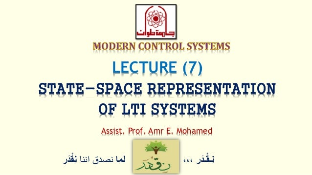 Modern Control Lec07 State Space Modeling Of Lti Systems