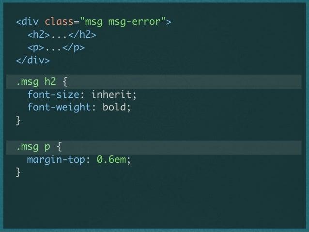 .msg-title { font-size: inherit; font-weight: bold; } .msg-body { margin-top: 0.6em; }