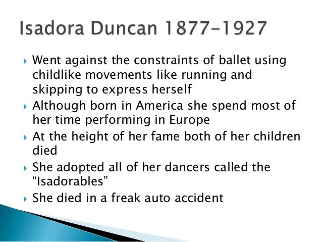 modern dance history essay Modern dance traditionally, european and american theatrical dance centered on ballet however, in the early twentieth century, it became fashionable in dance.