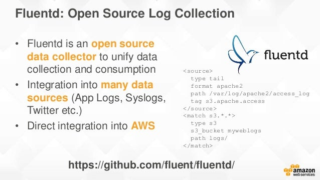 Fluentd: Open Source Log Collection https://github.com/fluent/fluentd/ • Fluentd is an open source data collector to unify...