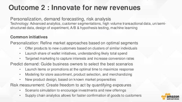 Ingest ServingData sources Speed (Real-time) Scale (Batch) Innovate for new revenues Personalization, demand forecasting, ...