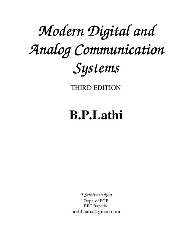 Modern digital and analog communication systems by b p lathi