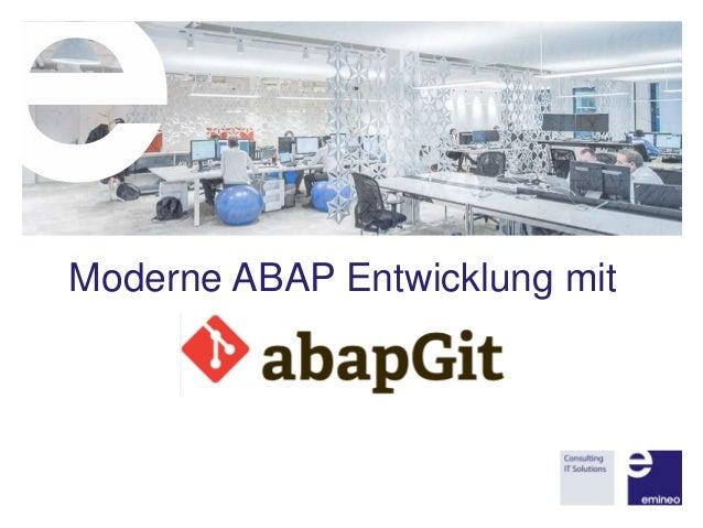 Moderne ABAP Entwicklung mit
