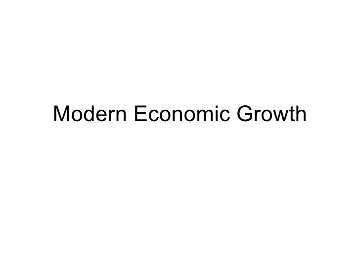 Modern Economic Growth