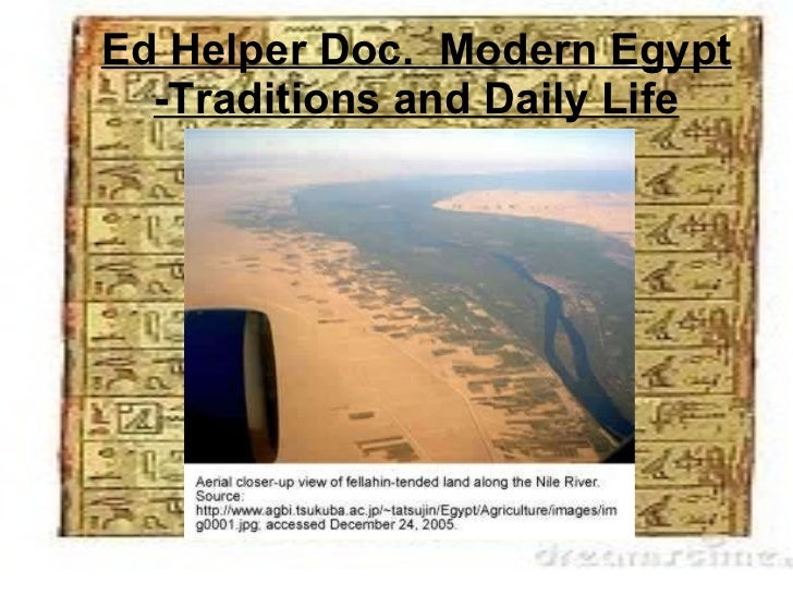 Ed Helper Doc.  Modern Egypt -Traditions and Daily Life