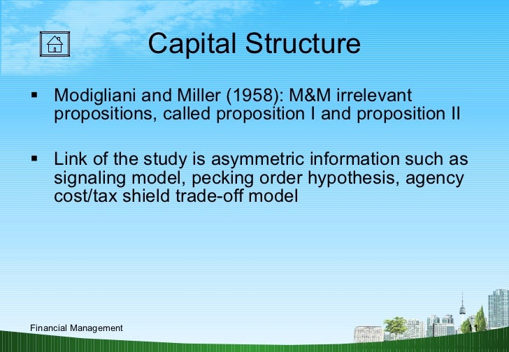 empirical evidence of modigliani and miller theory Miller and modigliani the empirical evidence of theories that model interior choices of debt-equity ratios.