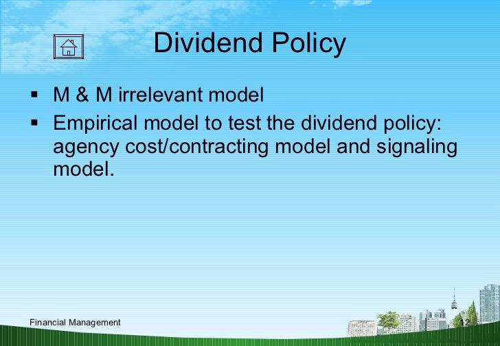 dividend signaling We explain that the signaling of dividend from analysts' expectation is a 'complete dividend signal' since the forecasted dividend.