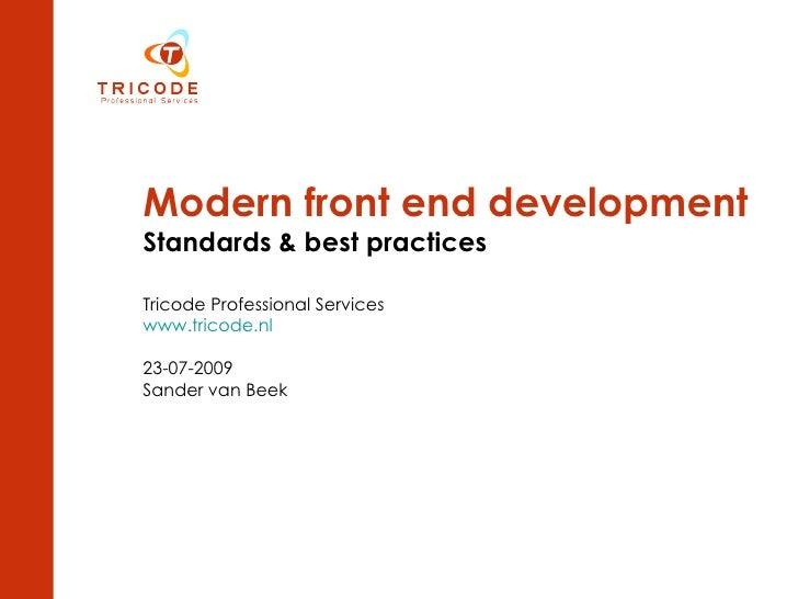 Modern front end development