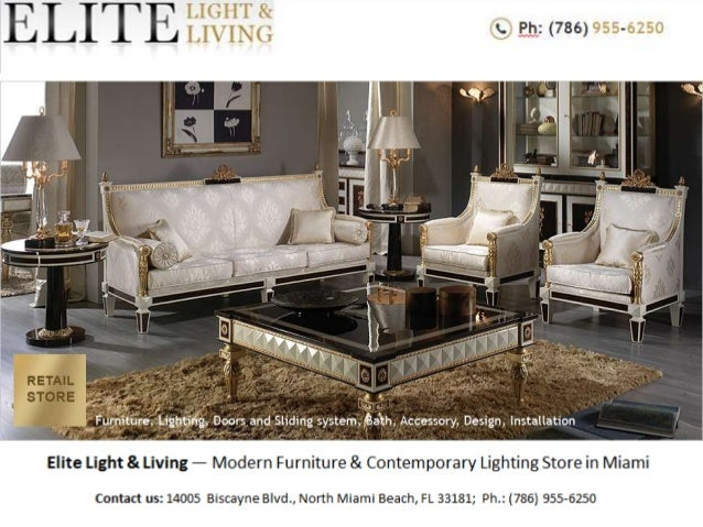 Modern furniture store in miami elite light living for Modern furniture miami