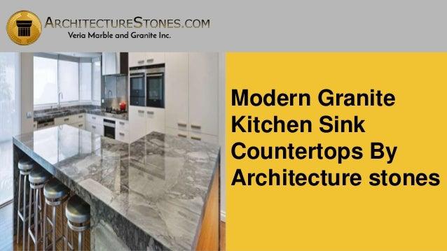 Modern granite kitchen sink countertops by architecture stones