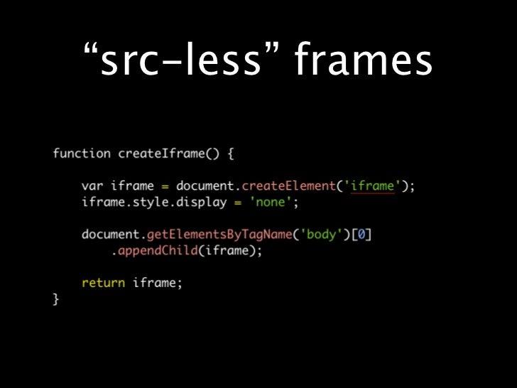 Modern iframe programming