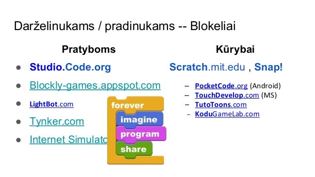 Jurgis pralgauskis modernios programavimo mokymo si for Programme imo