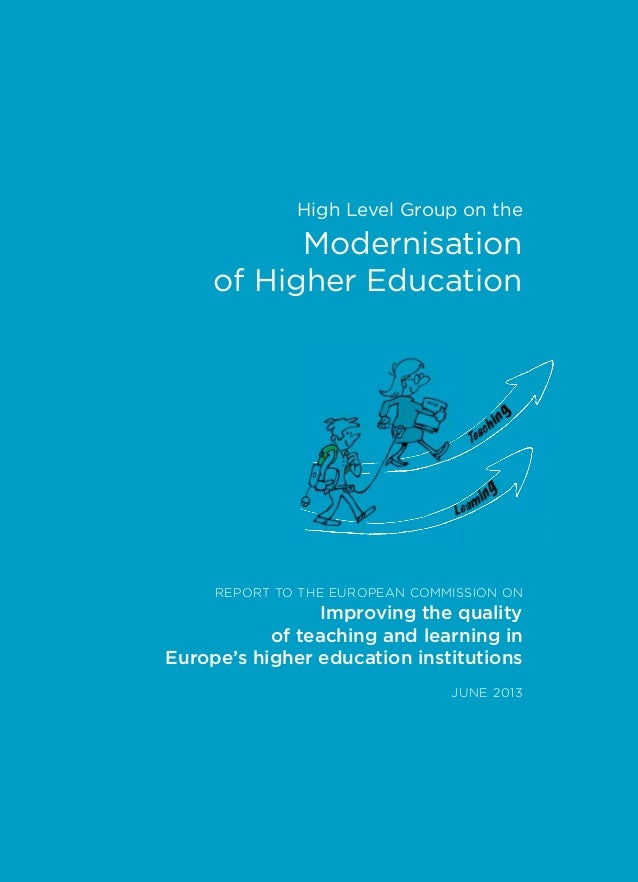 NC-01-13-156-EN-C REPORT TO THE EUROPEAN COMMISSION ON Improving the quality of teaching and learning in Europe's higher e...