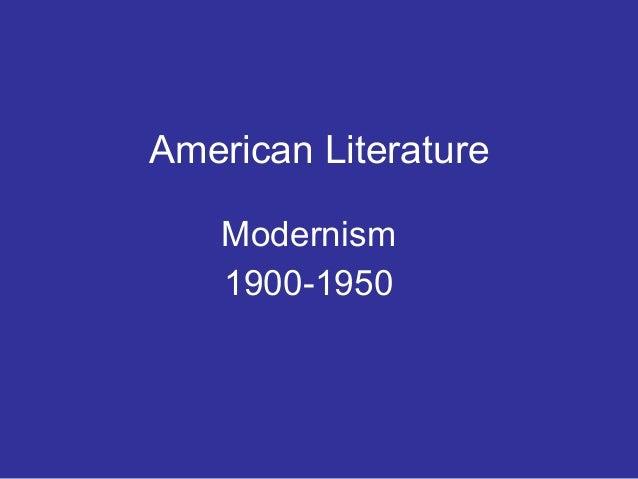 American Literature Modernism 1900-1950