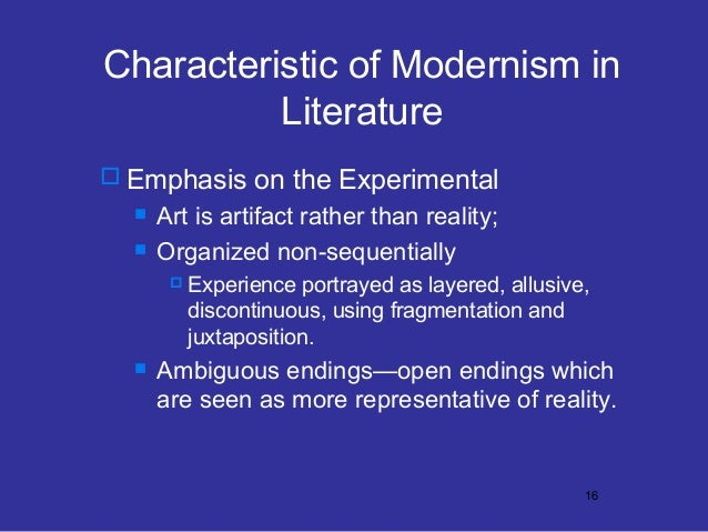 modernism and post modernism in literature Postmodernism in english literature postmodernism is a complicated term, or set of ideas, one that has only emerged as an area of academic study since the mid­1980s.