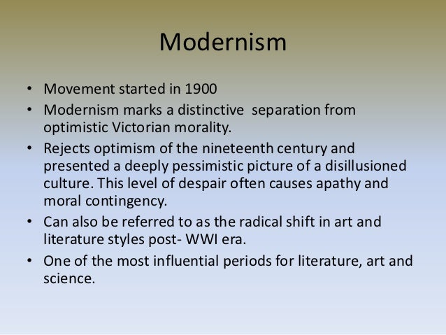 the modernism movement The modernist movement: the bubble bursts (1961 - 1979) the taste and mood of the nation changed as people started to feel swamped by the modernist design article.