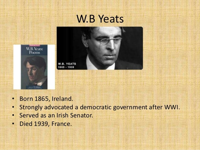 differences on w b yeats and t s eliot The ony difference is that yeats is his own coffin and memorial tablet  t s  eliot [a 70th birthday tribute to w b yeats in 1935]: '[i]t should be apparent at  least.