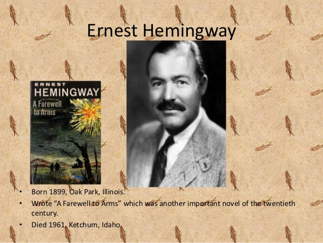 the inspiration of ernest hemingway to modern society Ernest hemingway would be aghast to see what has become of ernest hemingway against the gray obscurity that awaits most writers in death, his image, 5.