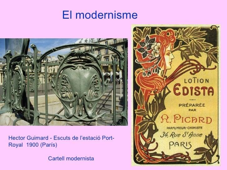 El modernisme Hector Guimard - Escuts de l'estació Port-Royal  1900 (París) Cartell modernista