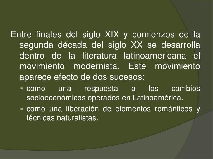 Entre finales del siglo XIX y comienzos de la segunda década del siglo XX se desarrolla dentro de la literatura latinoamer...