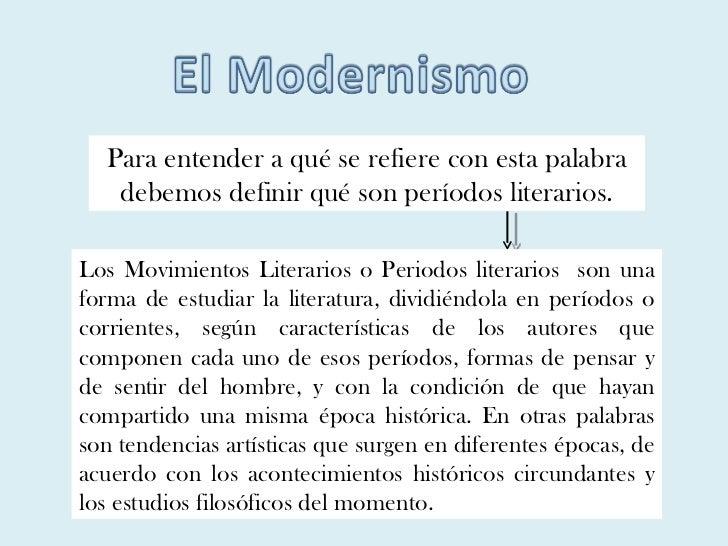 Para entender a qué se refiere con esta palabra debemos definir qué son períodos literarios. Los Movimientos Literarios o ...