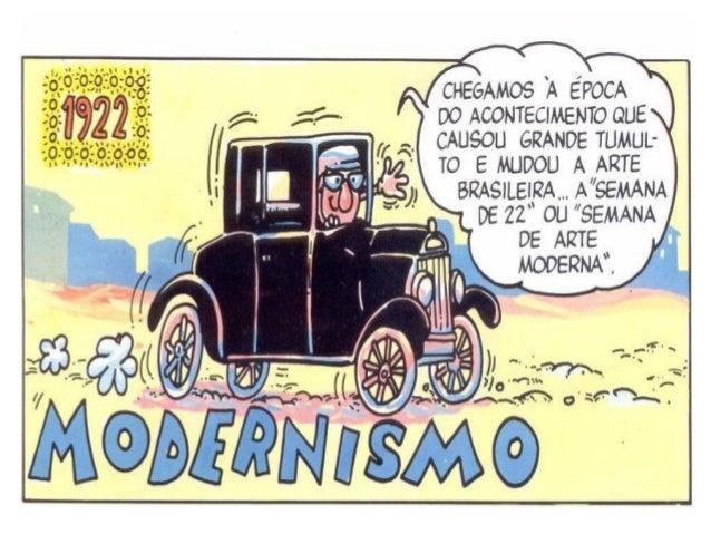 Modernismo Chama-se genericamente modernismo (ou movimento moderno) o conjunto de movimentos culturais, escolas e estilos ...