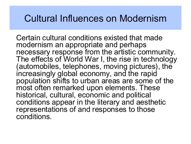 """an overview of modernism German modernism emerged from turn-of-the-century aestheticism like european modernism as a whole, german modernism was in fact a cluster of different literary movements, including expressionism, neue sachlichkeit (""""new objectivity""""), and dada of these, expressionism is the best known and most important."""